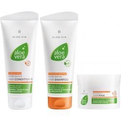 LR ALOE VIA Aloe Vera Nutri-Repair Zestaw do pielęgnacji włosów (szampon, odżywka i maska)